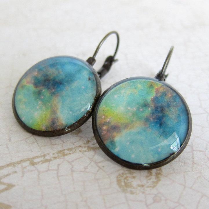 nebula earrings space earrings astronomy jewelry nasa